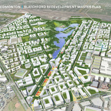 URBAN DESIGN PLANS: Blatchford Redevelopment Masterplan (Edmonton, AB) by Perkins+Will Canada. Image: Perkins+Will