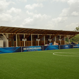 Overview of the Besongabang Football for Hope Center. Location: Mamfe, Cameroon. Credit: Rogerio Costa