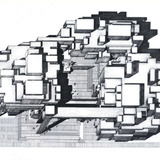 Orange County Government Center (Building Perspective) by Paul Rudolph