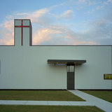 Saint Nicholas Eastern Orthodox Church in Springdale, Arizona, by Marlon Blackwell Architect. Image courtesy of the MCHAP.