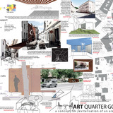 Honorable Mention: Art quarter Gornji trg - concept for revitalisation of an area in Ljubljana, Mina Hirsman