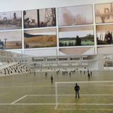 Footbal School and Training Center with Wall Stalker in the background
