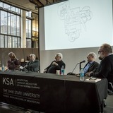 panel discussion about Et in Suburbia Ego- José Oubrerie's Miller House.