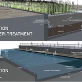 Holcim Gold Award: Urban renewal and swimming-pool precinct: Details water treatment and pool.