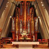 The Visser-Rowland (Opus 87) organ inside The Fish Church. Photo by Robert Gregson.