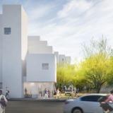 A render of the unbuilt Crest Apartments. Credit: Michael Maltzman Architecture