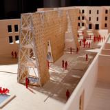 Model of CODA's Party Wall. Image courtesy of CODA.