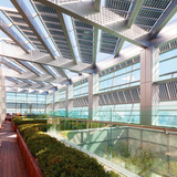Rooftop garden and solar array - new Federation of Korean Industries HQ. Image courtesy of AS+GG.