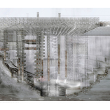 Here After: The Material Processor - Aron Wai Chung Tsang (HONG KONG). Image courtesy of Unbuilt Visions competition.