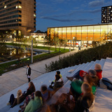 Pavillion and public space form new central Place to Be