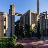 Facade View of La Fabrica Taller de Arquitectura Ricardo Bofill - Sant Just Desvern, Barcelona, Spain, 1975. Photo: Lluis Carbonell.