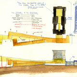Sketch for Nelson-Atkins Museum of Art. Courtesy of Steven Holl Architects.
