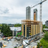 Brock Commons, the world's tallest wood building. Credit: University of British Columbia, Vancouver