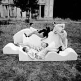 Superonda Sofa, Archizoom Associati, 1966 – Archive Centro Studi Poltronova. Courtesy Dario Bartolini (Archizoom Associati). From the 2015 Graham Foundation Organizational Grant to the Walker Art Center for Hippie Modernism: The Struggle for Utopia.