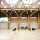 Gymnasium Regis Racine in Drancy, France by ATELIER D'ARCHITECTURE ALEXANDRE DREYSSÉ & Sébastien Muller (Photo: Guillaume Clement / Atelier Dreyssé)