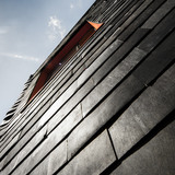 Detail of The Waste House at the University of Brighton's Faculty of Arts. Photo courtesy of Duncan Baker-Brown.