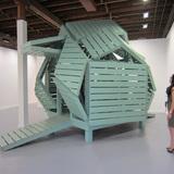 Michael Jantzen's M-velope sculpture at Bruno David Gallery, St. Louis, Missouri. Image courtesy of the artist.