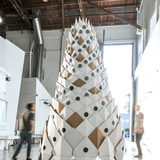 12/8 Tower in Pasadena, CA by Tim Durfee Studio and Andrew Kragness, amp at Media Design Practices / Art Center College of Design; Photo: QiYuan Li