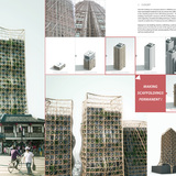 Honorable Mention. Bamboo Forest: Skyscrapers And Scaffoldings In Symbiosis. Thibaut Deprez (France)