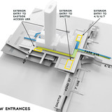 Diagram entrances (Image: WXY Architecture + Urban Design)