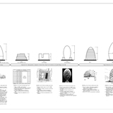 Included among the documents submitted toward the end of the planning review was this chart showing some of the variant designs considered for 30 St Mary Axe between 1996 and 2000. Foster + Partners,