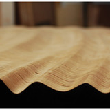 Fig 6: all planar/un-milled surfaces were finished with a water based onyx stain