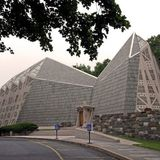 The First Presbyterian Church is called The Fish Church for its fish-like shape. Photo by Robert Gregson