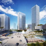 Court and fountain (Image: Goettsch Partners)