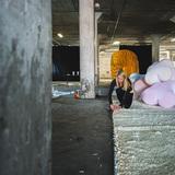 Play Lounge Installation: Cutting the Turf. Photo: GLINTstudios