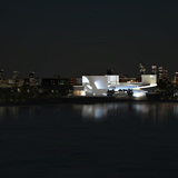 Night view. Image: Steven Holl Architects.