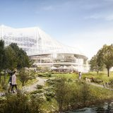 One of Squint/Opera's renderings for the Googleplex expansion by Heatherwick / BIG.