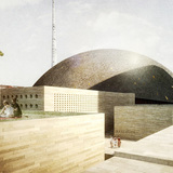 proposal for the Central Mosque of Prishtina, Kosovo by OODA and AND-RÉ with AFA CONSULT / Rui Furtado as the engineering partner