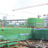 Construction site of Zhongxun Times by 10 Design. Photo courtesy of 10 Design