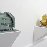 Michael Jantzen sculptures and models at Bruno David Gallery, St. Louis, Missouri. Image courtesy of the artist.