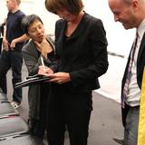 Janette Sadik-Khan signing autographs by Lian