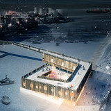 Rendering, Market Harbor, winter (Image: David Garcia Studio and Henning Larsen Architects)