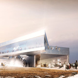 Rendering, Arctic Hub, summer (Image: David Garcia Studio and Henning Larsen Architects)