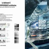 Facade detail of Building E by Périphériques Architectes. Image courtesy of a/LTA.