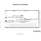 Sidewalk Lecture Series. Ground/Work Competition Finalist Entry by Of Possible Architectures. Image courtesy of OPA.