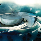 Rendering of the competition entry 'Whirlpool' (Image: 3XN)