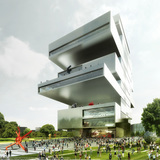 New NCCA proposal by Heneghan Peng Arhitects. Image/Visualization by Luxigon