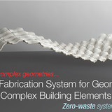 Global Holcim Innovation 3rd prize 2012: Efficient fabrication system for geometrically complex building elements, London, UK by Povilas Cepaitis, AA School of Architecture, United Kingdom in collaboration with LLuis Enrique, Diego Ordoñez and Carlos Piles, AA School of Architecture, United...