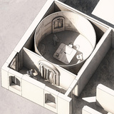Rendering of the exhibition. Courtesy Ricardo Bofill Taller de Arquitectura 2014.