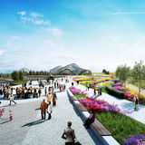 President's Botanic Garden in the summer. Image © Gillespies LLP.