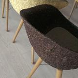 Team Austria's pressed-wood fiber chairs inside LISI. Photo credit: Alexander Walter.