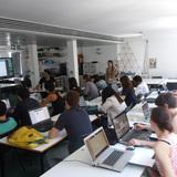 Phase 1: Processing tutorials, AA DLAB: Blue, London / Hooke Park, July - August 2013 (photo: Elif Erdine)