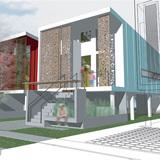 Make It Right L9 Prototype House. Rendering courtesy of Eskew+Dumez+Ripple.