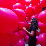 "Lucía Martínez Pluchino + Raquel Durán Puente​ design an immersive balloon ""tunnel"" in Montpellier"