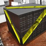 The Whitney Studio from shipping containers by LOT-EK