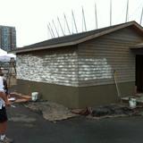 Construction of the prairie farmhouse.